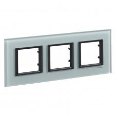 Рамка 3-постовая, Матовое стекло, Unica Class MGU68.006.7C3