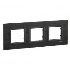 Рамка 3-постовая, Черный камень, Unica Class MGU68.006.7Z1