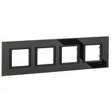 Рамка 4-постовая, Черное зеркало, Unica Class MGU68.008.7C1