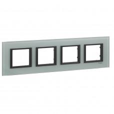 Рамка 4-постовая, Матовое стекло, Unica Class MGU68.008.7C3