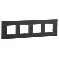 Рамка 4-постовая, Черный камень, Unica Class MGU68.008.7Z1
