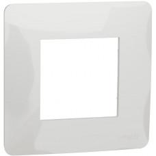 Рамка 1-постовая, Белый, Schneider Unica NEW Studio NU200218