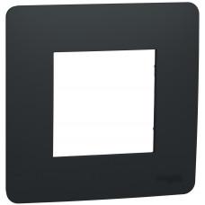 Рамка 1-постовая, Антрацит, Schneider Unica NEW Studio NU200254