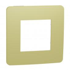 Рамка 1-постовая, Зеленое Яблоко/белый, Schneider Unica NEW Studio NU280211