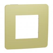 Рамка 1-постовая, Зеленое Яблоко/бежевый, Schneider Unica NEW Studio NU280212