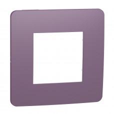 Рамка 1-постовая, Лиловый/белый, Schneider Unica NEW Studio NU280214