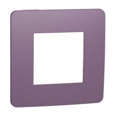 Рамка 1-постовая, Лиловый/бежевый, Schneider Unica NEW Studio NU280215