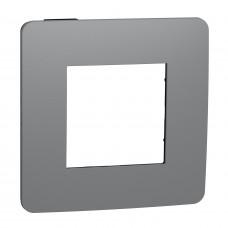 Рамка 1-постовая, Дымчато-серый/антрацит, Schneider Unica NEW Studio NU280222