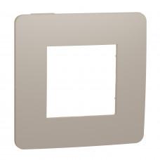 Рамка 1-постовая, Песочный/бежевый, Schneider Unica NEW Studio NU280227
