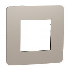 Рамка 1-постовая, Песочный/антрацит, Schneider Unica NEW Studio NU280228