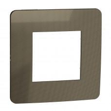 Рамка 1-постовая, Бронза/белый, Schneider Unica NEW Studio NU280250