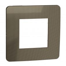 Рамка 1-постовая, Бронза/бежевый, Schneider Unica NEW Studio NU280251