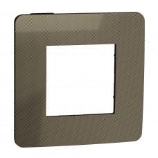 Рамка 1-постовая, Бронза/антрацит, Schneider Unica NEW Studio NU280252