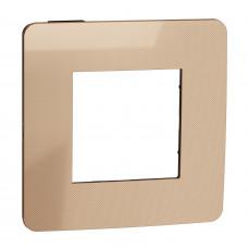 Рамка 1-постовая, Медь/антрацит, Schneider Unica NEW Studio NU280258