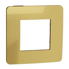 Рамка 1-постовая, Золото/антрацит, Schneider Unica NEW Studio NU280262