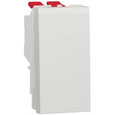 Переключатель 1-клавишный крестовидный, 10А, 1 модуль, белый, Unica NEW NU310518