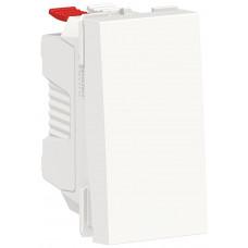 Выключатель кнопочный, 10А, 1 модуль, белый, Unica NEW NU310618