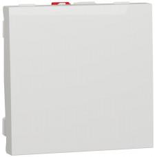 Вимикач 1-клавішний, 10А 2 модуля, білий, Unica NEW NU320118