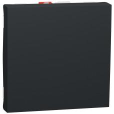 Перемикач 1-клавішний прохідний, 10А, 2 модуля, антрацит, Unica NEW NU320354