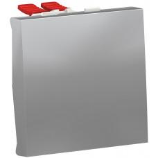 Переключатель 1-клавишный крестовидный, 10А, 2 модуля, алюминий, Unica NEW NU320530