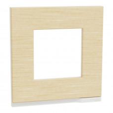 Рамка 1-постовая, горизонтальная, Клен/белый, Schneider Unica NEW Pure NU600283