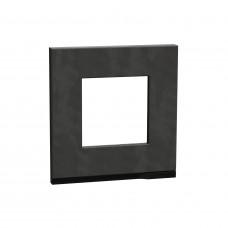 Рамка 1-постовая, горизонтальная, Камень/антрацит, Schneider Unica NEW Pure NU600287