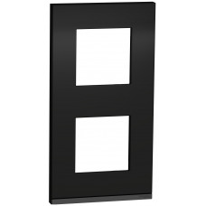 2 постовая рамка, вертикальная, Каучук, Schneider Unica NEW Pure NU6004V82