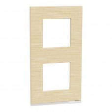 2 постовая рамка, вертикальная, Клен, Schneider Unica NEW Pure NU6004V83