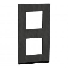 2 постовая рамка, вертикальная, Камень, Schneider Unica NEW Pure NU6004V87