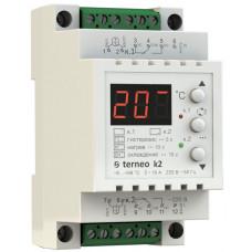 Терморегулятор двухканальный для теплого пола Terneo k2